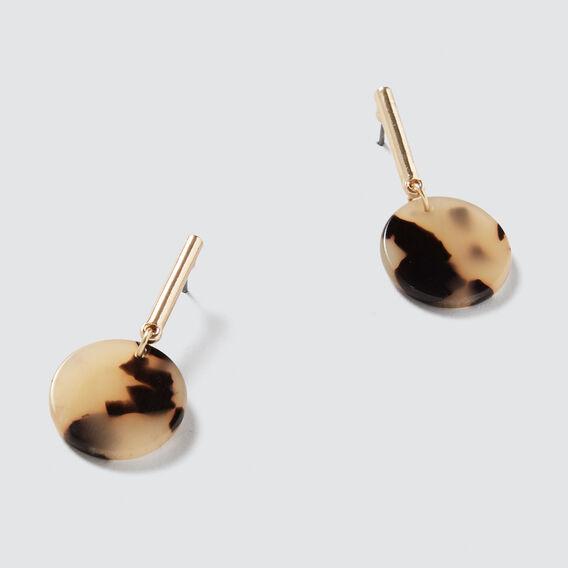 Mini Tort Drop Earrings  GOLD/TORT  hi-res