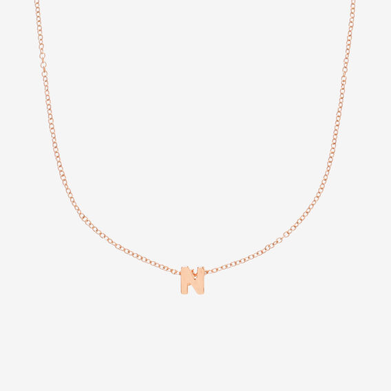 Initial Necklace  N  hi-res