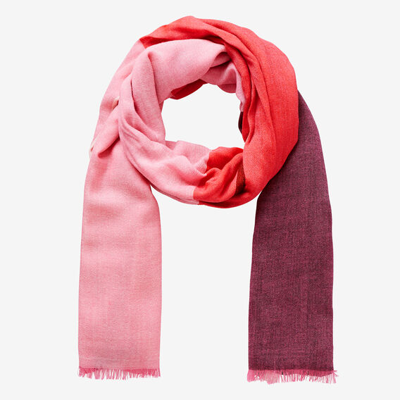 Large Check Scarf  BOLD RED MULTI  hi-res