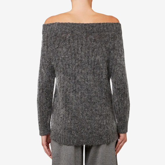 Off-Shoulder Knit  GREY CLOUD  hi-res