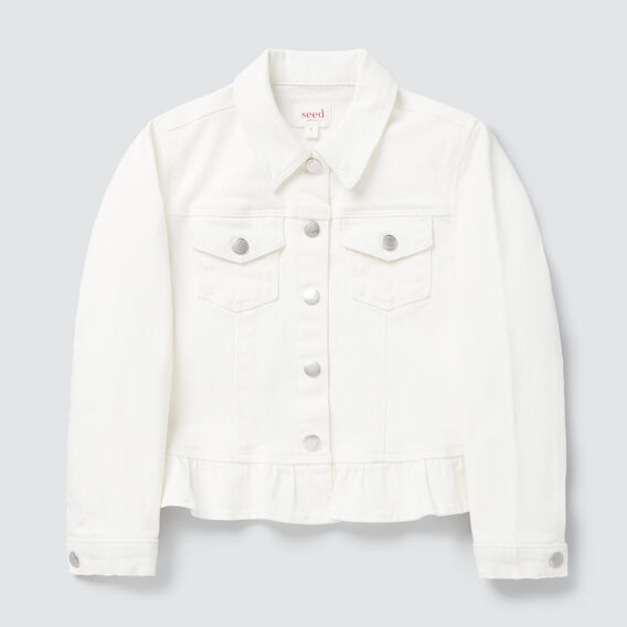 Peplum Jacket  WHITE  hi-res