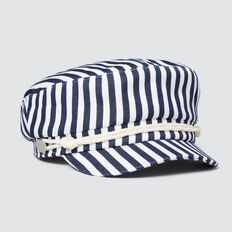 Stripe Fisherman Cap  NAVY  hi-res