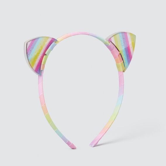 Rainbow Acrylic Ears Headband  MULTI  hi-res