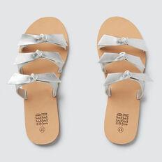 3 Strap Bow Sandal  SILVER  hi-res