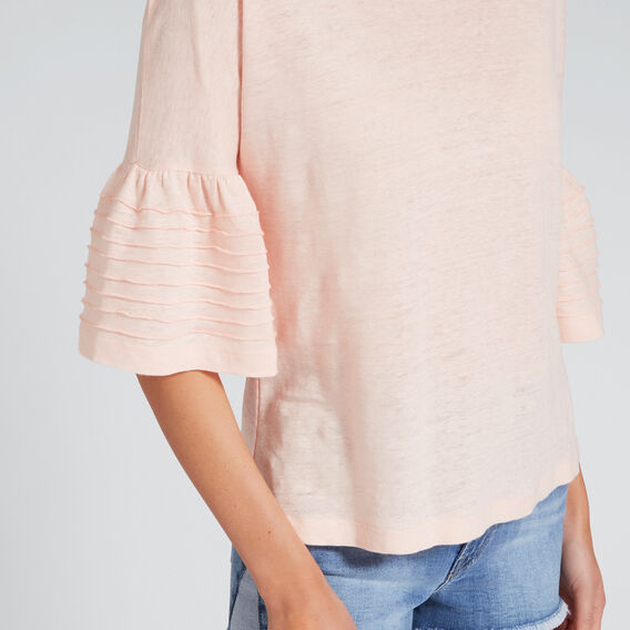 Stitched Sleeve Tee  PEACH NOUGAT  hi-res