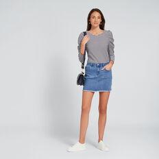 Denim Mini Skirt  CLASSIC DENIM  hi-res