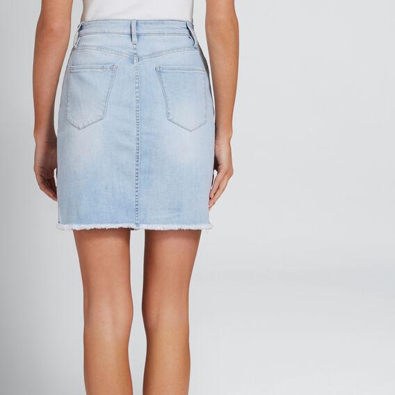 Cut-Out Side Panel Skirt  PASTEL DENIM WASH  hi-res