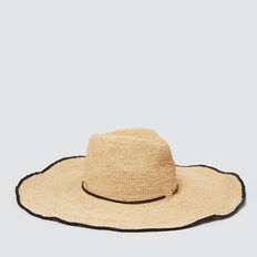 Wide Brim Panama  NATURAL/BLACK  hi-res