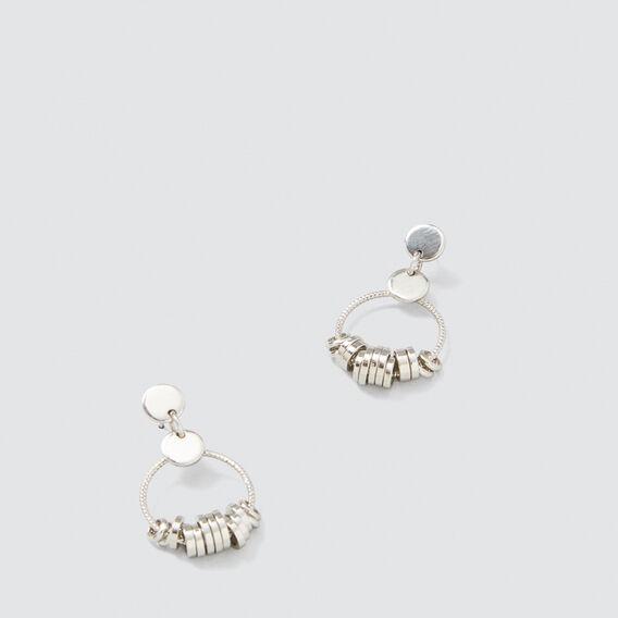 Mini Rings Earrings  SILVER  hi-res