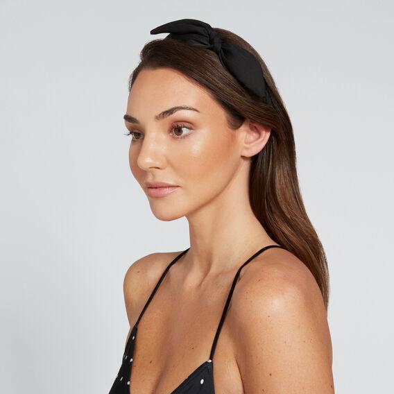 Bow Twist Headband  BLACK  hi-res