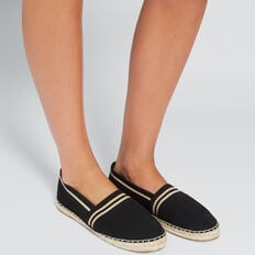 Sasha Stripe Espadrille  BLACK STRIPE  hi-res