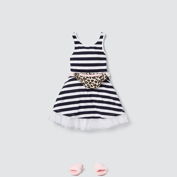 Party Dress  NAVY/WHITE  hi-res