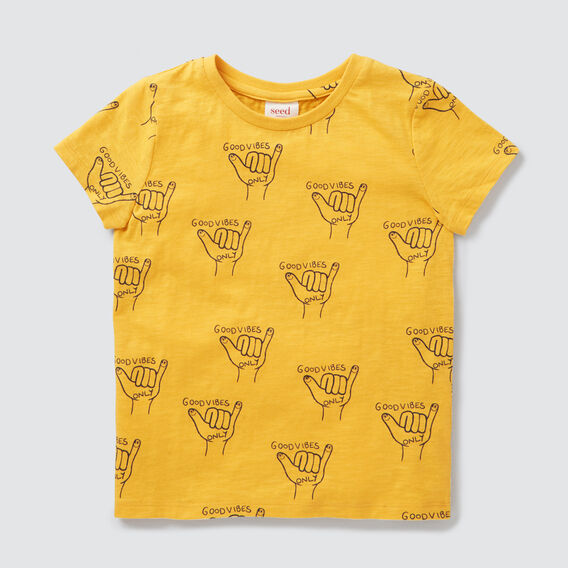 Yardage Tee  LION YELLOW  hi-res