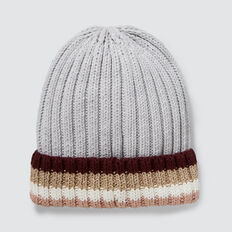 Stripe Rib Beanie  CLOUD  hi-res