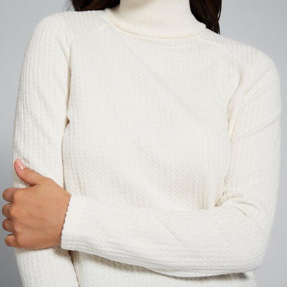 Textured High Neck Top  FRENCH VANILLA  hi-res