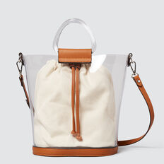 Transparent Bucket Bag  CLEAR/TAN  hi-res