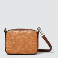 Dakota Cross Body Sling  TAN/MUSTARD CROC  hi-res