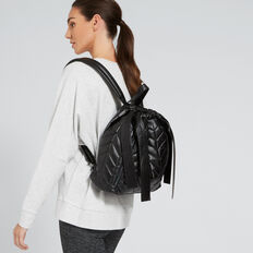 Quilted Backpack  BLACK  hi-res