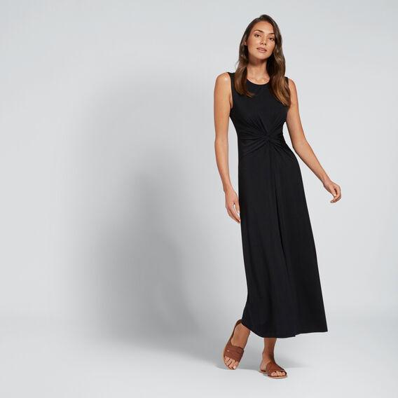 Twist Front Dress  BLACK  hi-res