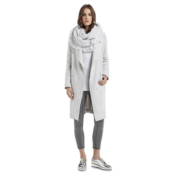 Boucle Coat  LIGHT GREY MARLE  hi-res