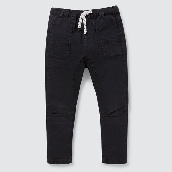 Tapered Leg Pant  WASHED BLACK  hi-res