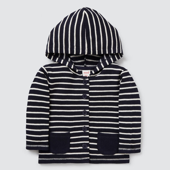 Stripe Cardigan  MIDNIGHT BLUE  hi-res