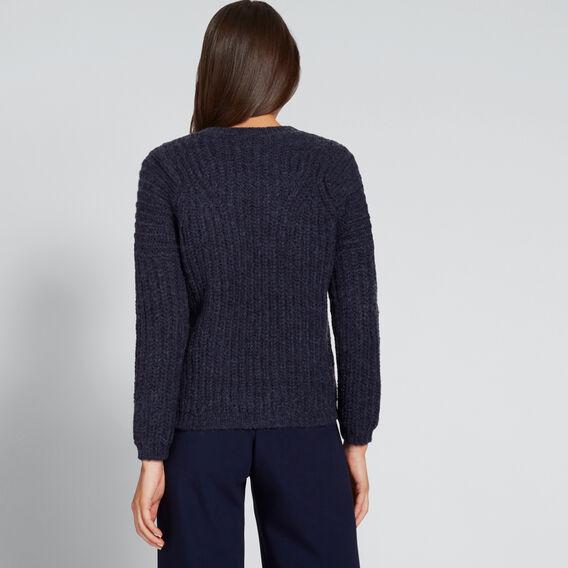 Rib Detail Sweater  NAUTICAL BLUE MARLE  hi-res