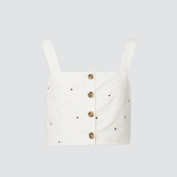 Embroidered Top  WHITE WASH  hi-res