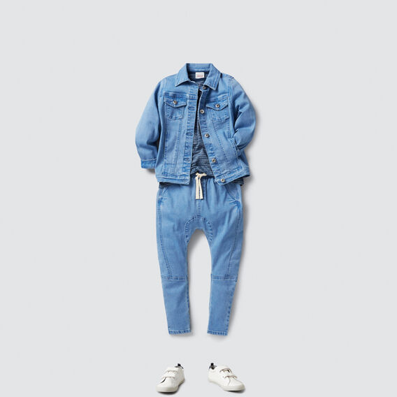 Embroidered Denim Jacket  BRIGHT WASH  hi-res
