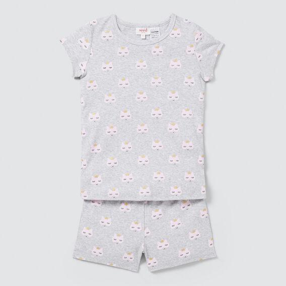 Kitty Yardage Pyjama Set  CLOUD  hi-res