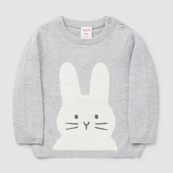 Chenille Bunny Knit  BIRCH MARLE  hi-res