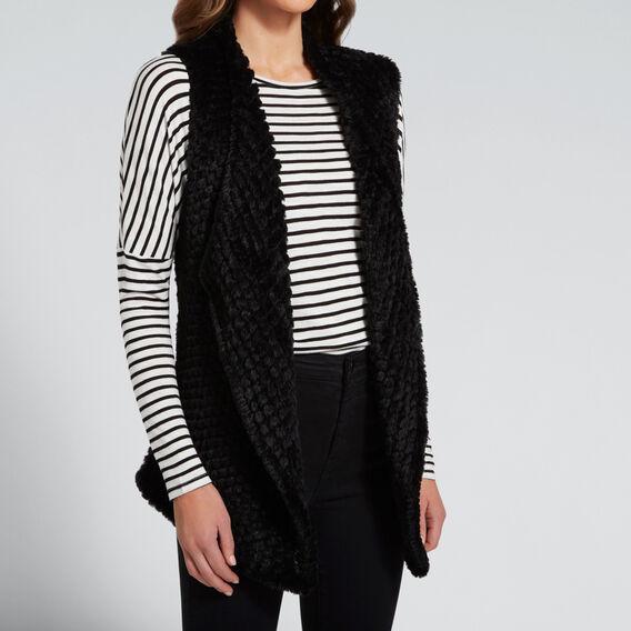 Faux-Fur Vest  BLACK  hi-res