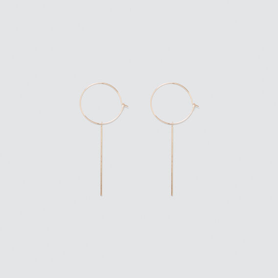 Circle Bar Earrings  ROSE GOLD  hi-res