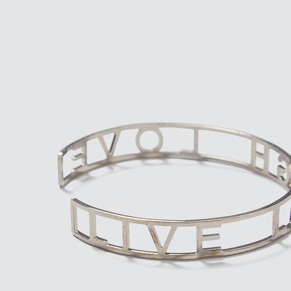 Word Cuff Bracelet  SILVER  hi-res