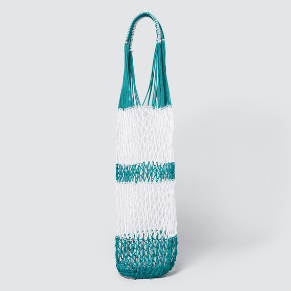 Stripe Shopper  PEACOCK GREEN/WHITE  hi-res