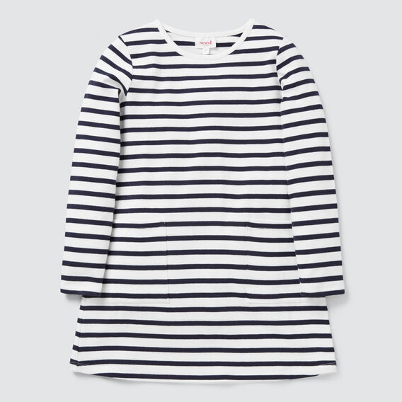 Stripe Pocket Dress  NAVY/CANVAS  hi-res