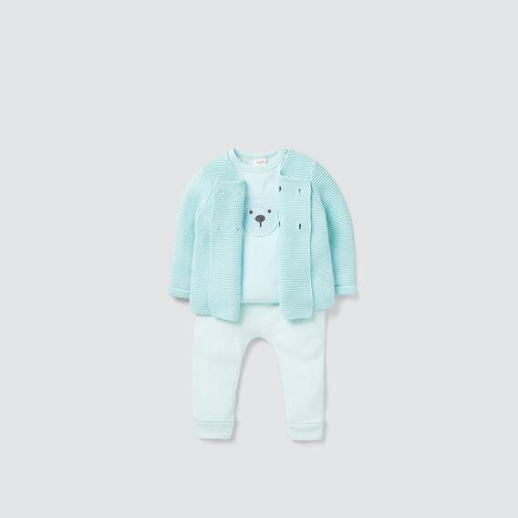 Pearl Knit Cardigan  AQUA  hi-res