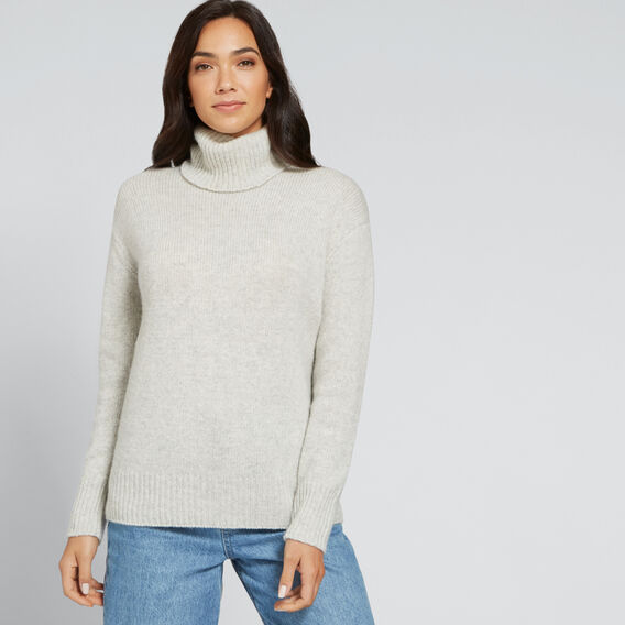 Cashmere Roll Neck Knit  LIGHT ASH MARLE  hi-res