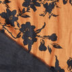 Two Tone Floral Scarf  VINTAGE BRONZE/BLACK  hi-res