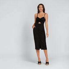 Peek-A-Boo Bow Dress  BLACK  hi-res