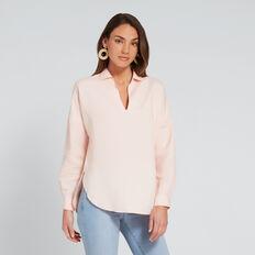 Linen Comfy Shirt  PEACH NOUGAT  hi-res