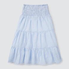 Tiered Midi Skirt  CORNFLOWER  hi-res