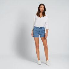 Cotton Longline Shirt  WHISPER WHITE  hi-res