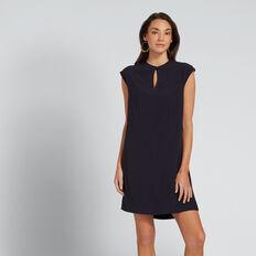 High-Neck Shift Dress  DEEP NAVY  hi-res