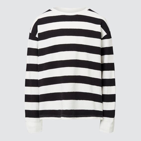 Slubby Long Sleeve Tee  CANVAS/BLACK  hi-res