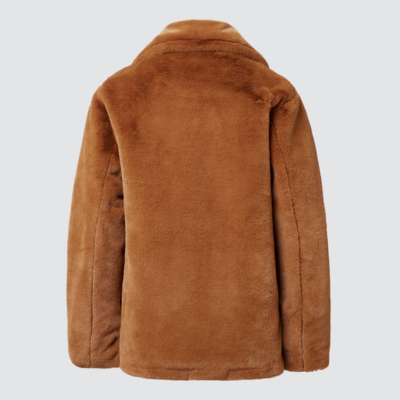 Faux Fur Coat  TOBACCO  hi-res