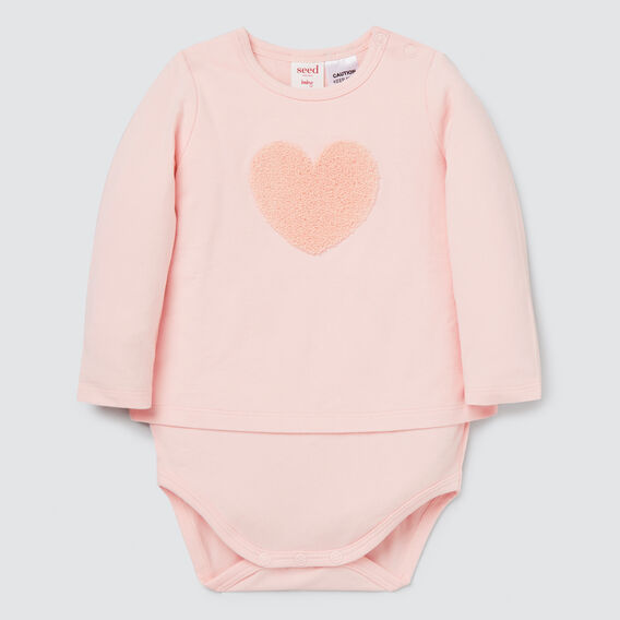 Heart Bodysuit  PRETTY PINK  hi-res