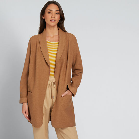 Soft Drape Coat  GINGERBREAD  hi-res