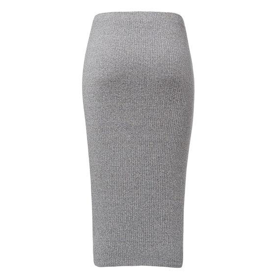 Rib Skirt  CHARCOAL FLECK  hi-res