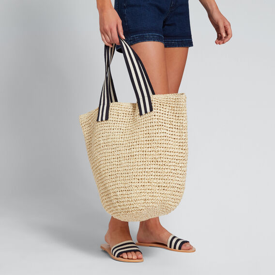 Striped Handle Tote  NATURAL  hi-res